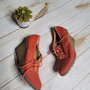 Urban Outfitters booties Cooperative orange 7